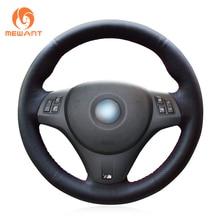 MEWANT черный чехол рулевого колеса автомобиля из искусственной кожи для BMW M Sport M3 E90 E91 E92 E93 E87 E81 E82 E88 X1 E84