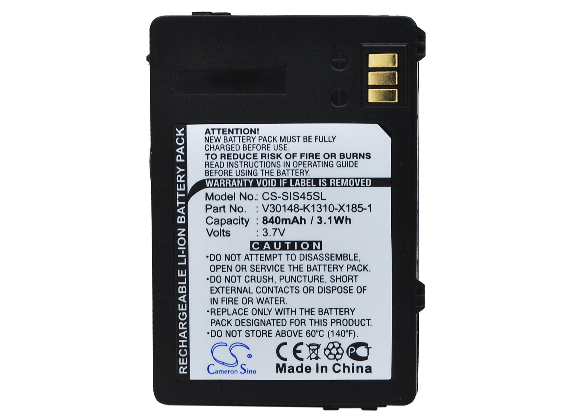 3.7v Battery For Siemens Ctx65 Cxi70 Cxo65 S65v Sp65 Emoty A31 C65 Cf62t Cxt65 Cfx-65 Cxt70 Cxv65 Cxv70 M65 S65 Cx66 Cx75 Cxi65 Power Source