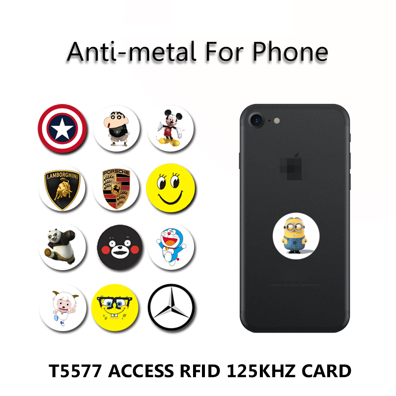 EM4305 T5577 Anti-metal 125khz RFID Access Card Proximity Rewritable Writable Copiable Clone Anti-jamming Mobile Phone Sticker