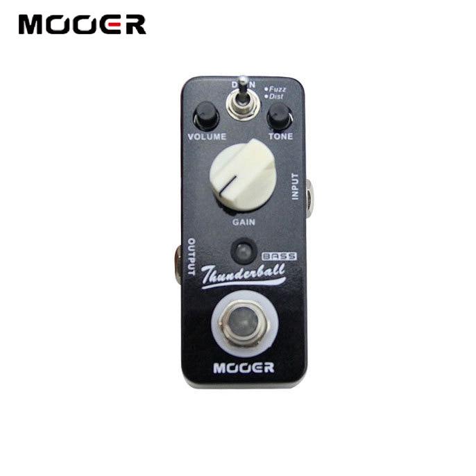 Mooer ThunderBall Bass Fuzz & Distortion Pedal for Bass mooer thunderball full metal shell true bypass 2 mode bass fuzz and distortion effect pedal