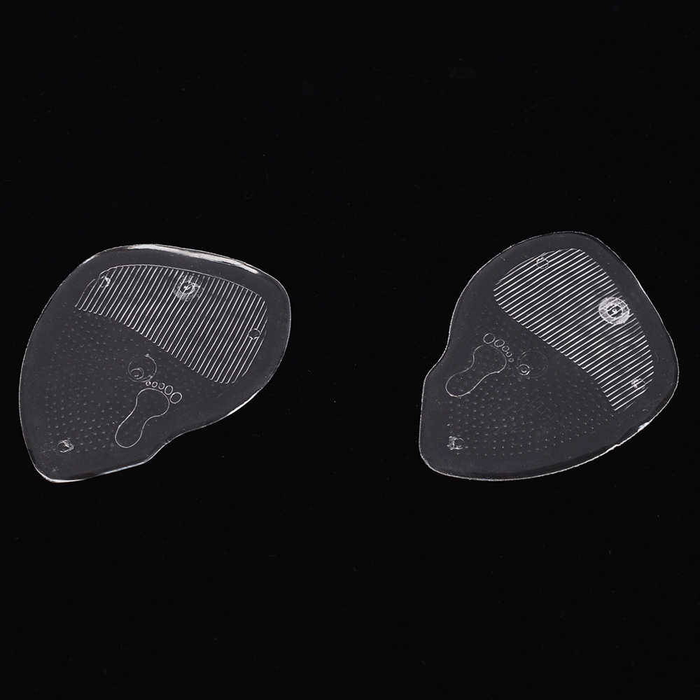 1Pair Gel Forefoot Silicone Shoe Pad Insoles High Heel Elastic Cushion silicone Orthotic Arch Support Pads Non Slip Inserts