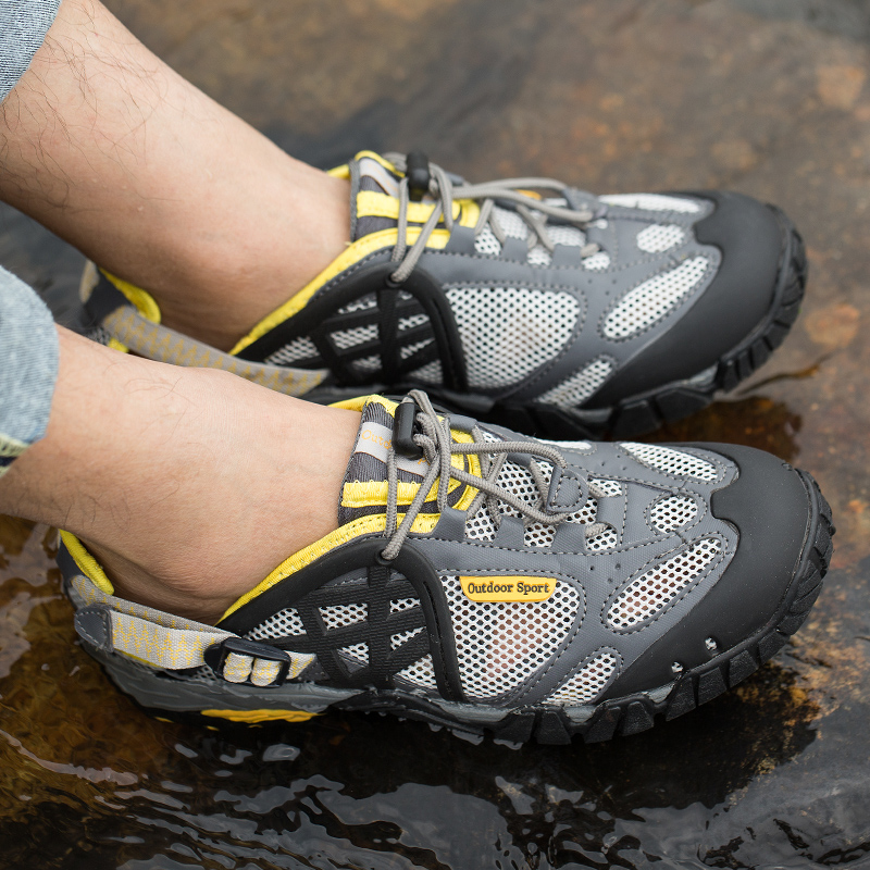 f71f1153da3 US $29.81 45% OFF|Summer Sandals Man Hiking Shoes Outdoor Men Breathable  Mesh Trekking Sneakers Water Shoes Trekking Mountain Shoes Outdoor Men-in  ...
