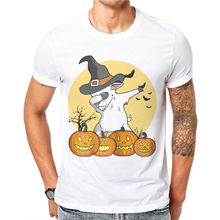 Terror Personality Skull Printed Happy Halloween Mens Tee Shirts Summer Men T Shirt Short Sleeve Casual Cotton Male Tshirts Tops
