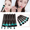 10pcs/Set Face Foundation Powder Eyeshadow Eyeliner Lip Makeup Brush Set