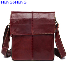 Hengsheng Hot sale genuine leather messenger bag with quality cow leather men messengers bag for fashion