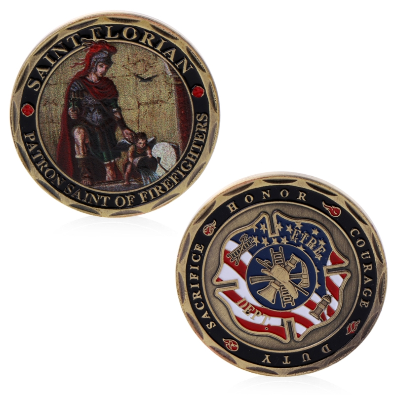 St. Florian Fire Brigade Commemorative Coins Patron Saint Fire Brigade Collection Gift Commemorative Coins Souvenir Art