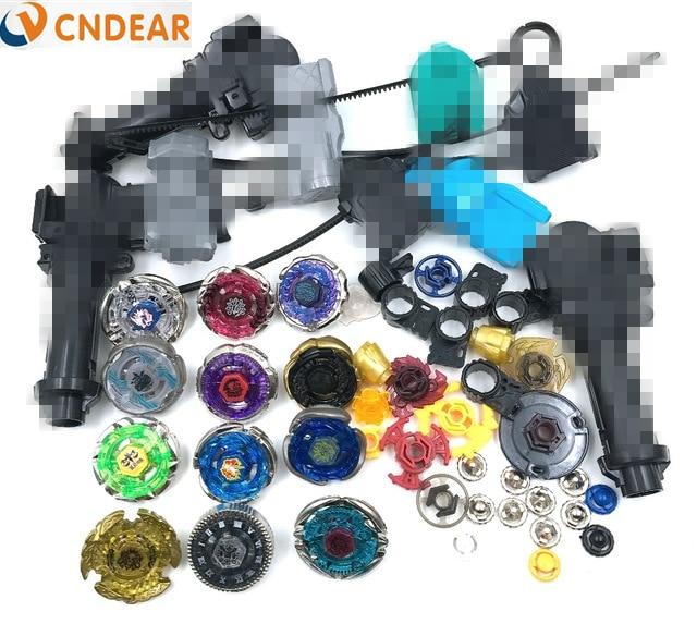 Beyblade מתכת פיוז 'ן 4D Freies ספינר העליון (12 beyblades + 6 משגרים +3 grips + יותר מ -30 חלקי חילוף) צעצועים לילדים