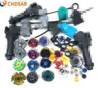 Beyblade Metal Fusion 4D Freies spinner top (12 spin top + 6 launchers +3 grips + more than 30 spare parts ) Kids Toys
