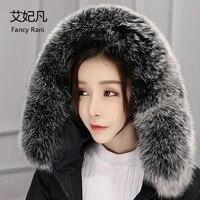80cm 100 Real Fox Fur Collars Fox Fur Square Collar Female Ring Scarf Women Genuine Natural
