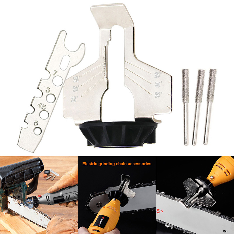 Chainsaw Sharpening Kit Electric Grinder Sharpening Polishing Attachment Set Saw Chains Tool ALI88