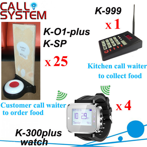 K-999+300plus+O1-plus+K-SP 1+4+25 Electronic Wireless Call Calling System