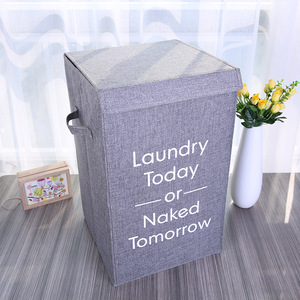 Cotton Laundry Basket With Cov