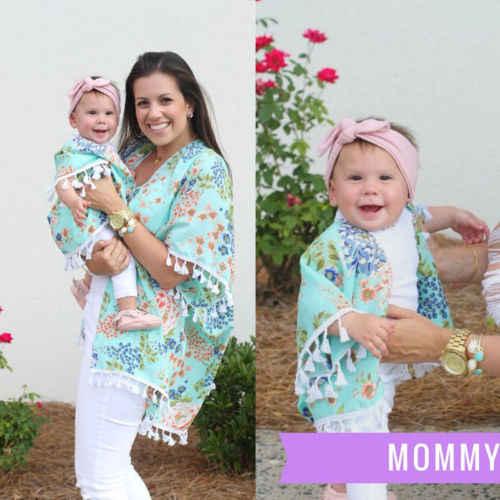Женское пляжное бикини в стиле бохо для мамы и дочки, кимоно, кардиган, куртка, пальто, Топ