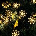 20 LED Solar Powered Led Floral Festival de Luces LED String de Hadas de Luz para La Boda la Fiesta de Navidad Decoración de Interior y Exterior