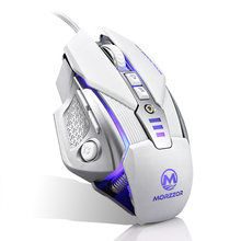 Wired Backlight Cool Gaming Mouse Souris USB Ergonomics Mice 8 Buttons 4 Colors Breath Light For Laptop PC Pro Gamer CF LOL