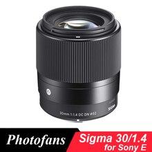 Sigma 30 мм f1.4 DC DN современный объектив для sony E A5000 A6000 A6300 A6500