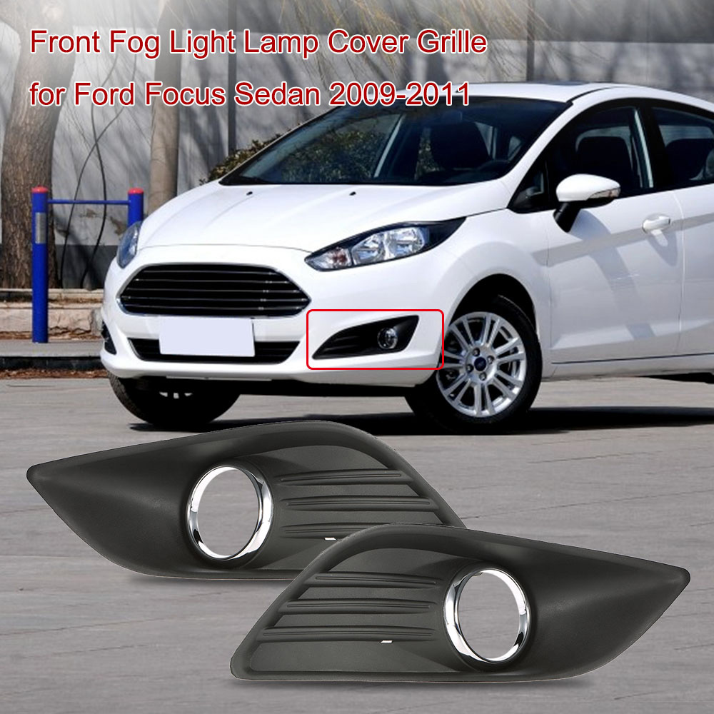 Car styling pair of front fog light lamp cover grille replacement for ford fiesta 2013