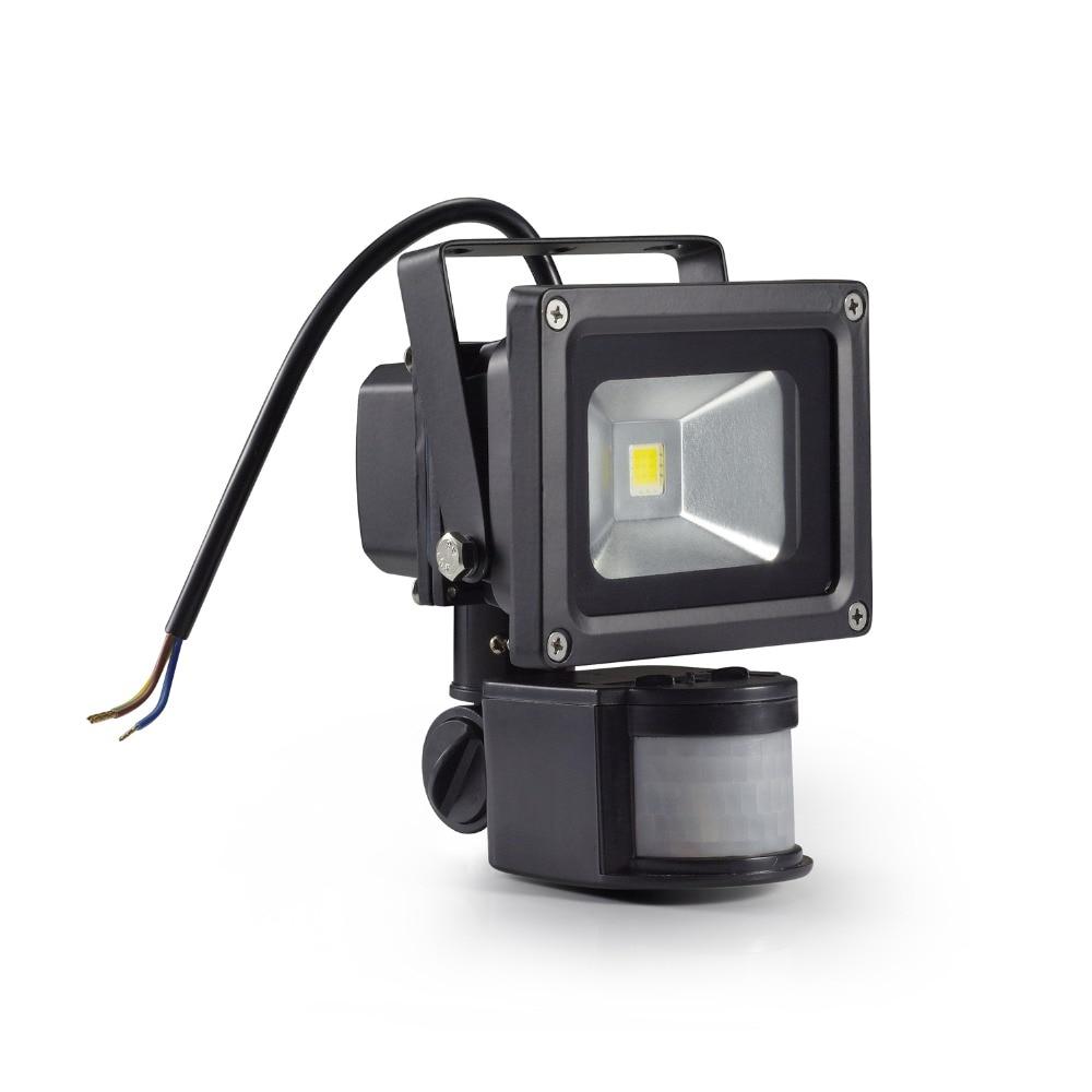Led Light Ourdoor Probe Induction Sense Detective Sensor LED PIR Floodlight 12Vdc 10W Floodlight PIR Motion Sensor 12Vdc led floodlight pir motion sensor black ac85 260v