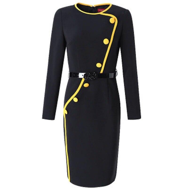 Hiver Printemps Lady Robe Noir 3xl Femmes Dames Qualité Vintage Supérieure Parti 2019 Designer Office Piste Robes Nouvelle Noël De 6PEq5xgww