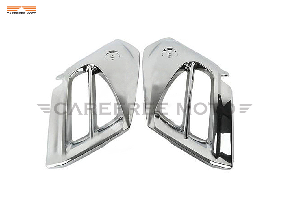 Chrome Motorcycle Mid Front Cover Fairing Moto Side Frame Decoration Shell case for Honda GL1800 Goldwing 2012 2013 2014 2015Chrome Motorcycle Mid Front Cover Fairing Moto Side Frame Decoration Shell case for Honda GL1800 Goldwing 2012 2013 2014 2015