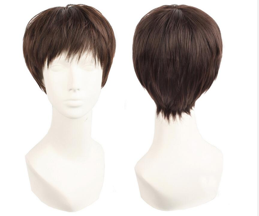 Anime Voltron:Legendary Defender Lance Cosplay Wig Brown Short Heat Resistant Synthetic Hair Wigs + Wig Cap