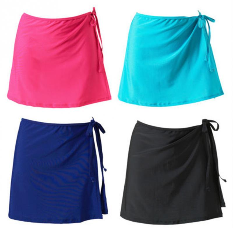 2019 Summer Women Beach Skirt Short Bikini Cover Up Swim Wear Solid Lace-up Sexy Mini Wrap Skirt Scarf Beachwear Swimsuit Moderate Price
