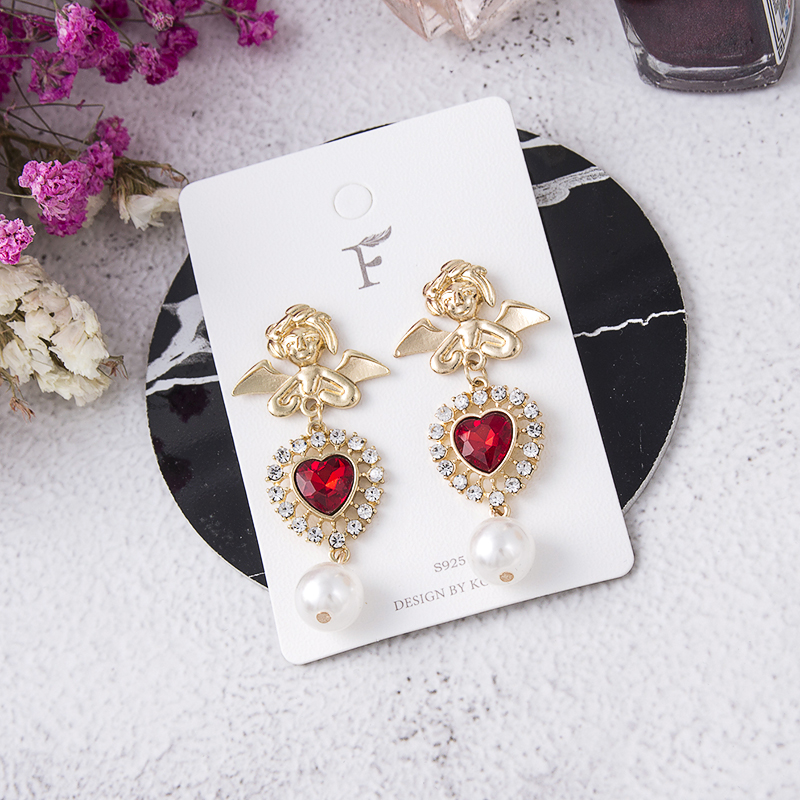 HTB15R4aMIfpK1RjSZFOq6y6nFXac - 2019 New Hot Sale 20 Style Red Fashion Korean Elegant Geometric Dangle Earrings for Women Cute Pendant Mujer Jewelry