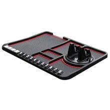 Автомобильный силиконовый Противоскользящий коврик держатель для мобильного телефона приборная панель Мобильная Навигация