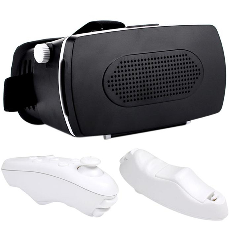 Hot Selling Google Cardboard VR BOX Virtual Reality 3D Glasses For 4.0-6 inch smartphone iPhone 6S/6S Plus + Remote Control