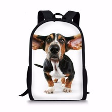 Coloranimal Cute Basset Hound Dog Pattern Children Large Lovely School Bags Women Laptop Shoulder Back Pack Teen Girl Backpack cheap Backpacks zipper Animal Prints Solid Bag Boys Soft Handle Embossing Interior Compartment Air Cushion Belt NONE 20-35 Litre