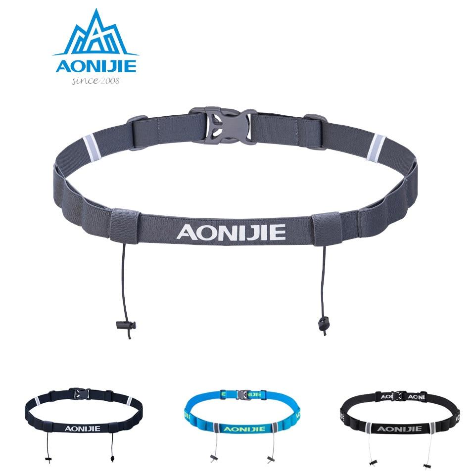 Aonijie 4 Colors Unisex E4076 E4085 Running Race Number Belt Waist Pack Bib Holder