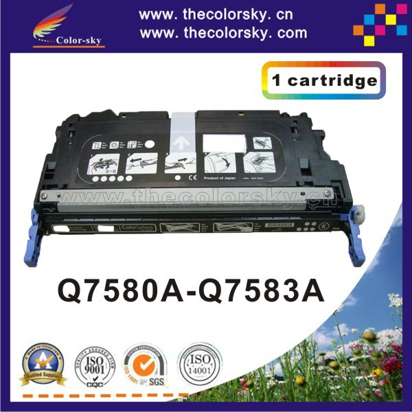 (CS-H7580-7583) compatible toner printer cartridge for HP Q7580A Q7581A Q7582A Q7583A Q7580 - Q7583 7580 - 7583 6k/4k free dhl free dhl mail shipping 305x toner cartridge triple test 305x toner cartridge for hp toner printer