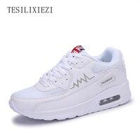 2016 Mulheres Sneakers Altura Crescente Calçados Esportivos Almofada de Ar Feminino Plataforma Ao Ar Livre Mulheres Correndo Sapatos Sapatos de Saúde Perder Peso