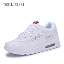 2016 Women Outdoor Sneakers Height Increasing Female Air Cushion Sports Shoes Platform Health Lose Weight Running