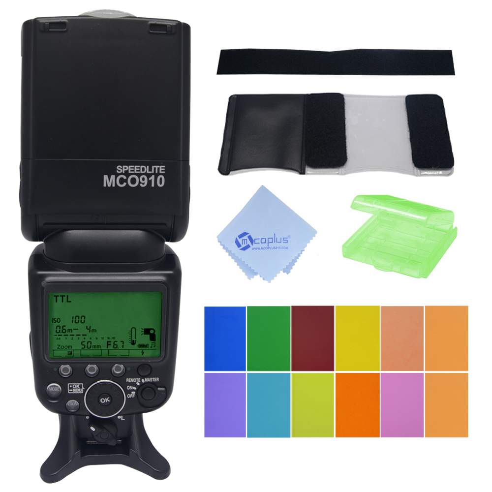 Mcoplus MCO-910 TTL 1/8000s HSS Flash Speedlite for Nikon SB910 SB900 D7100 D7000 D800 D600 Camera meike mk 910 i ttl flash speedlight hss master as for nikon sb 910 d810 d750 d7100