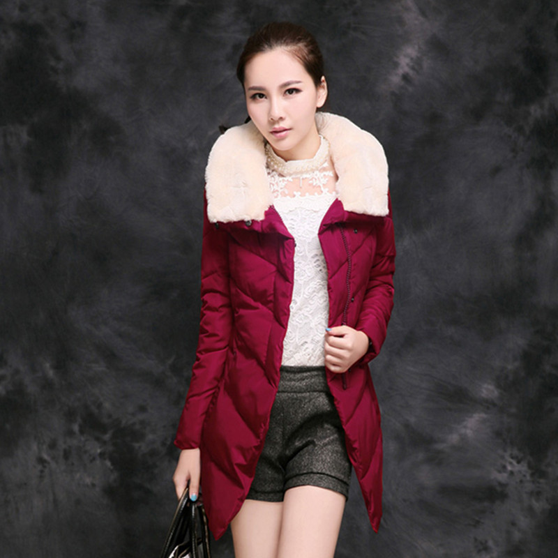 winter outerwear Parkas Womens 2016 New Women Casual Long women cotton padded jacket Plus Size Hooded cotton padded Coat