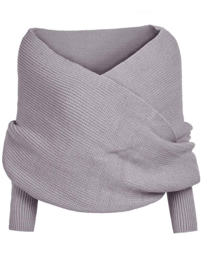 נשים ארוך שרוול Loose קרדיגן סרוג סוודר Jumper סריגי להאריך ימים יותר מעיל