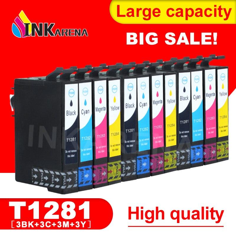 3 ensemble Pour Epson T1281 Cartouche d'encre Compatible Pour Epson Stylus S22 SX125 SX130 SX230 SX235W SX420W SX425W SX430W SX435W Imprimante