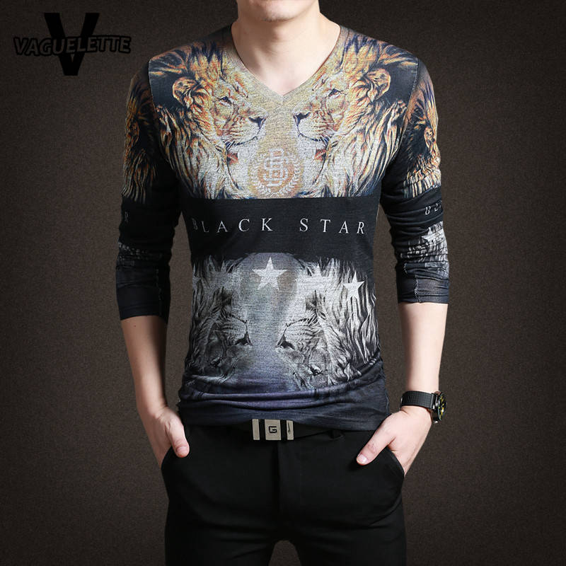 Luxury mens t shirts fashion 2017 novelty 3d printed lion for Luxury t shirt printing