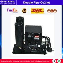 DMX512 Двойная труба cyro машина тумана диско DJ ночной клуб бар сценическое оборудование jet Co2