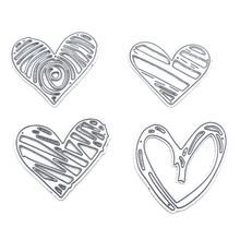 Carbon Steel Love Heart Cutting Die Embossing Stencil Templates Mold Paper DIY Art Craft Scrapbook Bookmark Card Decor