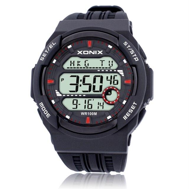 Précis sur le nouveau sport Cool étanche marée mâle LED lumineuse multifonction affichage numérique montres électroniques JS