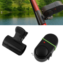 Rod Clip Light Alert Electronic Bite  Alarm Fish LED Bell Sound Black Fishing