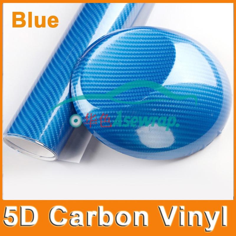 """50X152CM (20 """"X60"""") / Lot Fibră de carbon 5D de înaltă luciune din fibra de carbon 5D Înveliș din fibră de carbon 5D Film din fibră de carbon pentru motocicleta"""