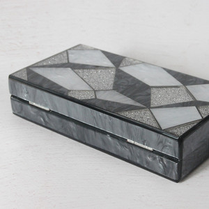 Image 4 - 新ファッション女性ブランド高級黒銀イブニングバッグパーティーウエディング結婚式のハンドバッグヴィンテージカジュアルな女性ボックスクラッチ財布