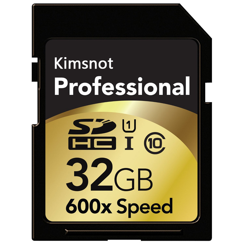 Kimsnot Professional 600x SD Card 16GB 32GB SDHC SDXC Card 64GB 128GB 256GB Memory Card Class10 High Speed 90mb/s UHS-I title=