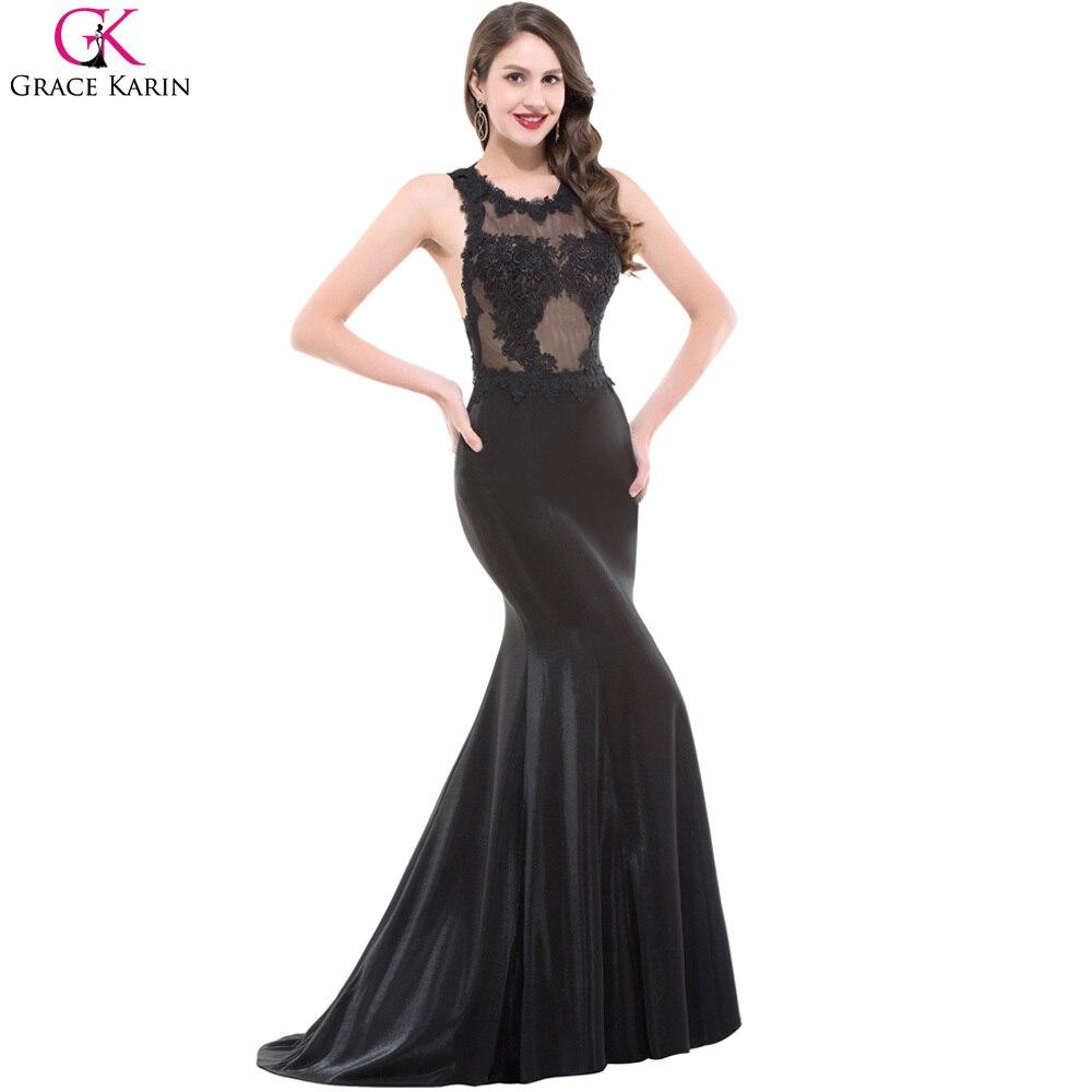 Popular Long Black Lace Gown-Buy Cheap Long Black Lace Gown lots ...