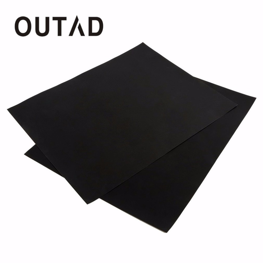 OUTAD 2 pcs Reusable No Stick BBQ Grill Mat Baking Easy Clean Grilling Fried Sheet Portable Outdoor Picnic Cooking Barbecue Tool