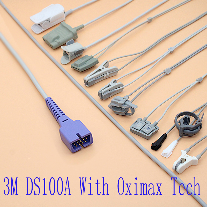 Compatible Nellcor DS100A With Oximax Tech Spo2 Sensor Cable For Adult/pediatric/child/Neonate/veterinary,DB9 Probe Cable.