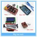3D комплект Принтера-Мега 2560 R3 Микроконтроллер + пандусы 1.4 контроллер + 12864 ЖК-Панель + A4988 шагового драйвера Для arduino